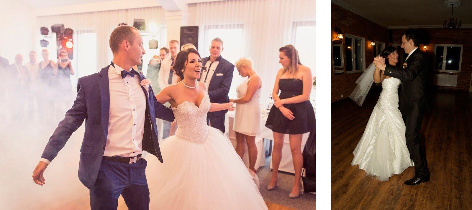 Para młoda podczas pierwszego tańca na weselu w Redzie