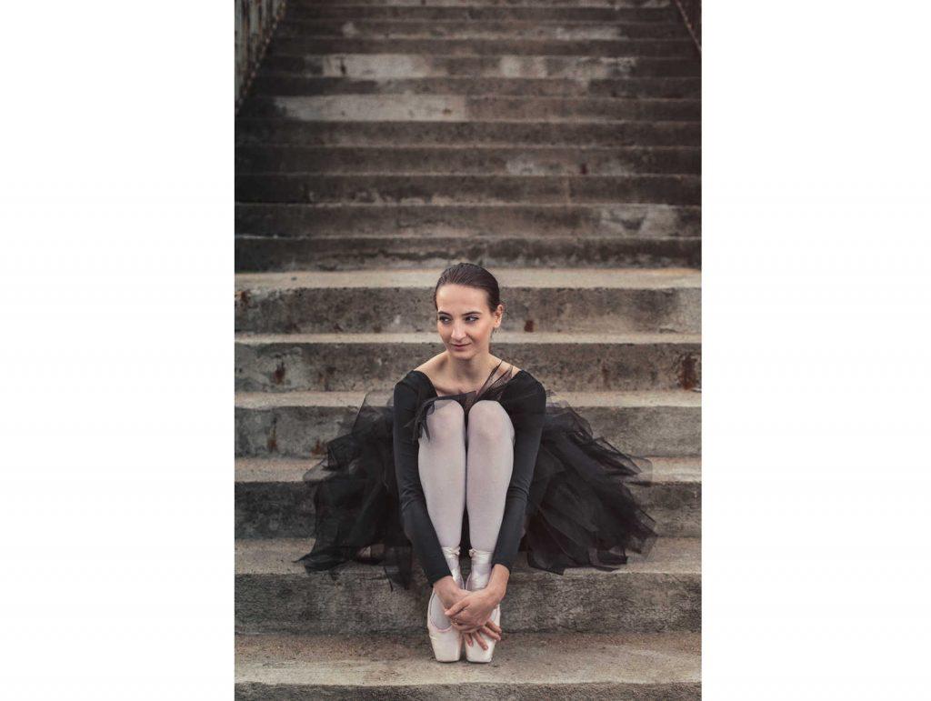 Sesja zdjęciowa z baletnicą