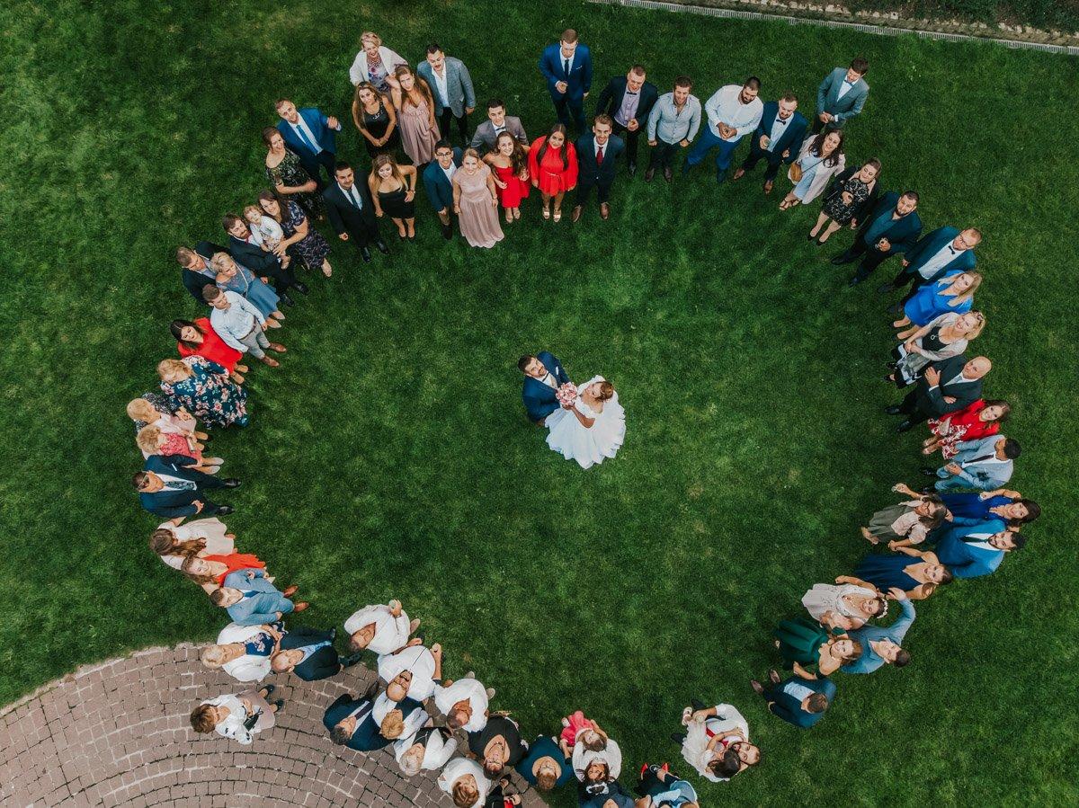 zdjęcia grupowe z drona