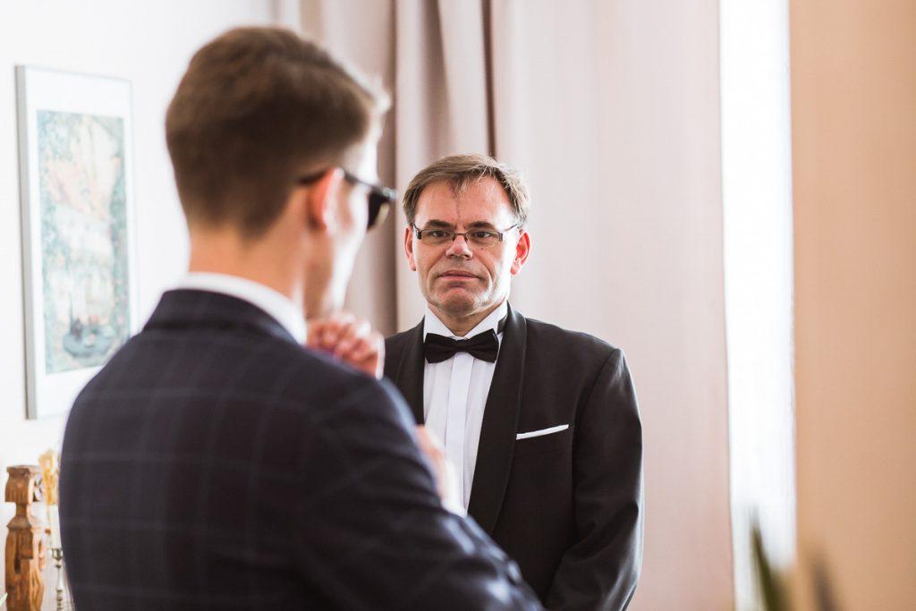 ojciec pana młodego przed ślubem
